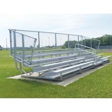 5 Row, 21' DELUXE Aluminum Bleacher, w/ VERTICAL RAIL