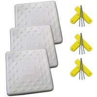 "Soft Touch S1400 14"" Spike-Down Base w/ Tees & Spikes, set of 3"