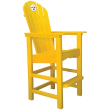 Pittsburgh Steelers NFL Outdoor Pub Captains Chair, YELLOW