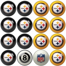 Pittsburgh Steelers NFL Home vs Away Billiard Ball Set