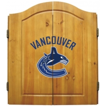 Vancouver Canucks NHL Dartboard Cabinet Set