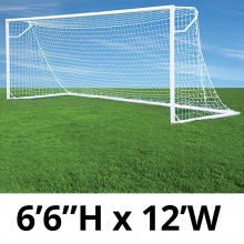 Jaypro 6.5' x 12' Round Nova Club Goals, RCG-12S (pair)