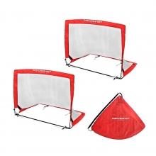 POWERNET 3' x 4' Rectangular Pop Up Soccer Goal (2 Goals + 1 Bag)