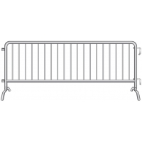 Crowdstopper Crowd Control Steel Barricade w/ Bridge Foot
