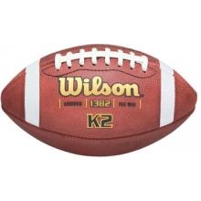 Wilson Pop Warner K2 Official Leather Football, under 10