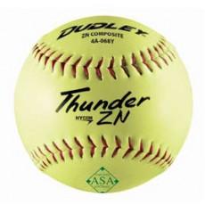 "Dudley Thunder ZN 12"", 52/300 ASA Slowpitch Composite Softballs, dz"