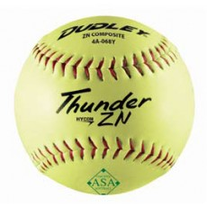 Dudley Thunder ZN 52/300 ASA Composite Cover Slowpitch Softball, 12""