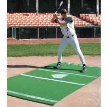 6' x 12' Baseball/Softball Hitter's Turf Mat, Green