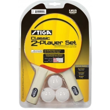 Stiga T1332 Classic Table Tennis Paddles, 2 player set