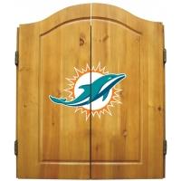 Miami Dolphins NFL Dartboard Cabinet Set