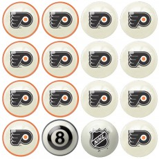 Philadelphia Flyers NHL Home vs Away Billiard Ball Set