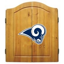 Los Angeles Rams NFL Dartboard Cabinet Set