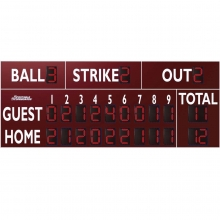 Sportable Scoreboards 3320 Baseball-Softball Scoreboard, 20'W x 8'H