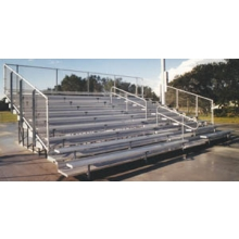 8 Row, 15' DELUXE Large Capacity Bleacher