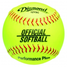 "Diamond 12YSC Official Synthetic Softball, 12"" Yellow"