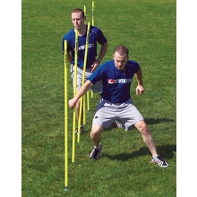 Kwik Goal set/6 Soccer Coaching Sticks w/ Steel Peg Base, 16B1001