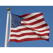United States Flag,   5' x 8', POLY-MAX