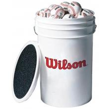 Wilson 3 dz A1010 Blem Practice Baseballs & Bucket, WTA1098 XOUT