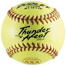 "Dudley 4A-147Y 47/375, Thunder Heat ASA Leather Fastpitch Softball 12"""