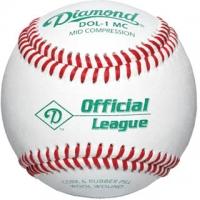 Diamond DLL-1MC Little League Mid Compression Baseballs, dz