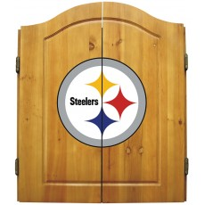 Pittsburgh Steelers NFL Dartboard Cabinet Set