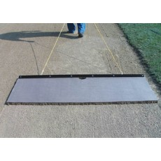 White Line 6' x 2' Cocoa Infield Drag Mat