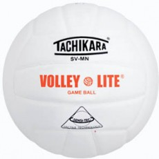 Tachikara SV-MN Volley-Lite Training Volleyball, WHITE