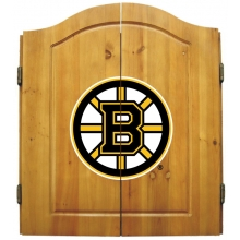 Boston Bruins NHL Dartboard Cabinet Set