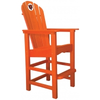 Chicago Bears NFL Outdoor Pub Captains Chair, ORANGE