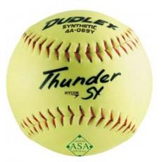 "Dudley Thunder SY 12"", 52/300 ASA Slowpitch Synthetic Softballs, dz"