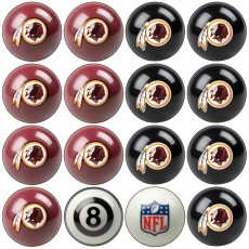 Washington Redskins NFL Home vs Away Billiard Ball Set