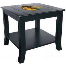 Chicago Blackhawks NHL Hardwood Side/End Table