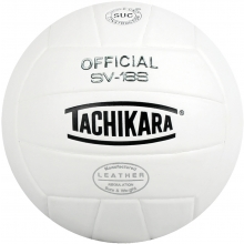Tachikara SV18S Composite Leather Volleyball, WHITE