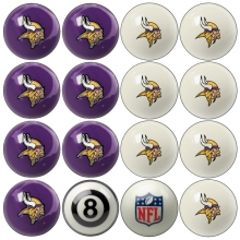 Minnesota Vikings NFL Home vs Away Billiard Ball Set