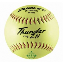 "Dudley Thunder ZN 12"", 52/300 ASA Slowpitch Composite Softballs, dz"