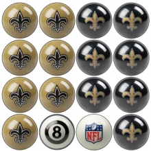 New Orleans Saints NFL Home vs Away Billiard Ball Set