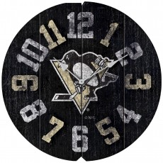 Pittsburgh Penguins Vintage Round Clock