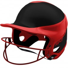 Rip-It Fastpitch Batting Helmet, AWAY Extra Small-Scarlet