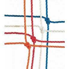 Official Soccer Net, 3mm, 8' x 24' (pr), RED