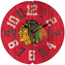 Chicago Blackhawks Vintage Round Clock
