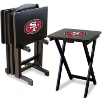 San Francisco 49ers NFL TV Snack Tray/Table Set