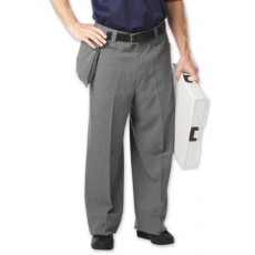 Dalco D9200 Plain Front Umpire Pants, Gray