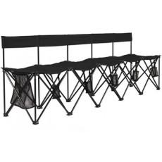 Travelbench TBLG5 El Grande Folding Soccer Bench w/ Backrest, 5-seater
