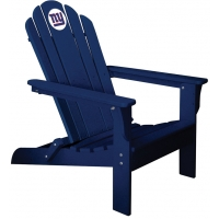 New York Giants NFL Folding Adirondack Chair, NAVY