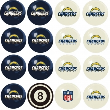 Los Angeles Chargers NFL Home vs Away Billiard Ball Set