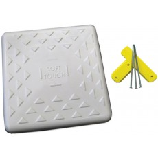 "Soft Touch 15"" Spike-Down Base w/ Tee & Spikes, S15"