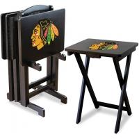 Chicago Blackhawks NHL TV Snack Tray/Table Set