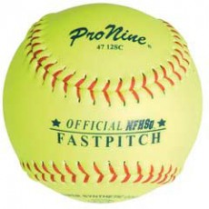 Pro Nine 47 12SC 47/375 Official NFHS, ASA Synthetic Fastpitch Softballs, 12""