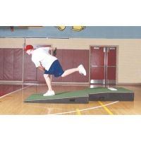 Promounds MP2031 Professional 2-piece Indoor Pitching Mound, GREEN, 4'W x 9'L x 10''H