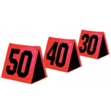 Fisher Foldable Football Sideline Markers, Black Numbers on Orange, SLMOR11